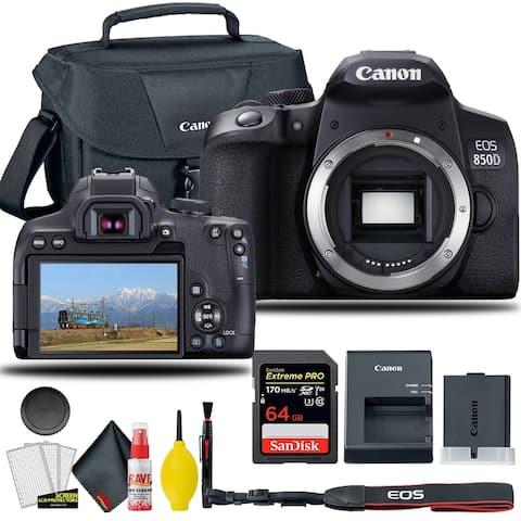 Canon EOS 850D / Rebel T8i DSLR Camera (Body Only), + EOS Camera Bag