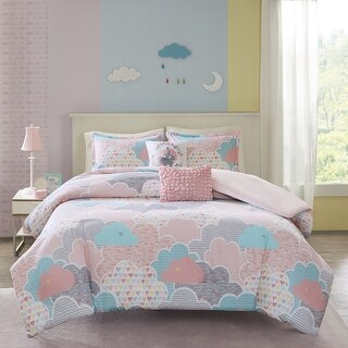 Link to Urban Habitat Kids Bliss Pink Cotton Printed 5-piece Duvet Cover Set Similar Items in Kids Comforter Sets