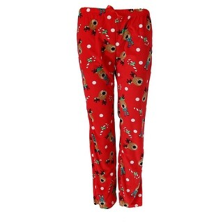 em & alfie Women's Holiday Print Sleep Pajama Pants