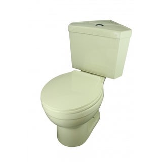 Corner Toilet Biscuit China Round Bowl Push Button Dual Flush Water Saver