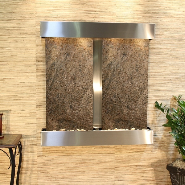 Aspen Falls Fountain - Stainless Steel - Square Edges - Choose Options