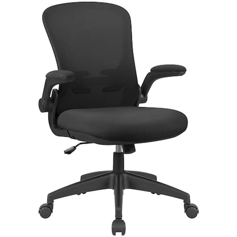 Homall Office Desk Chair Ergonomic Mesh Chair Lumbar Support with Flip-up Arms and Adjustable Height