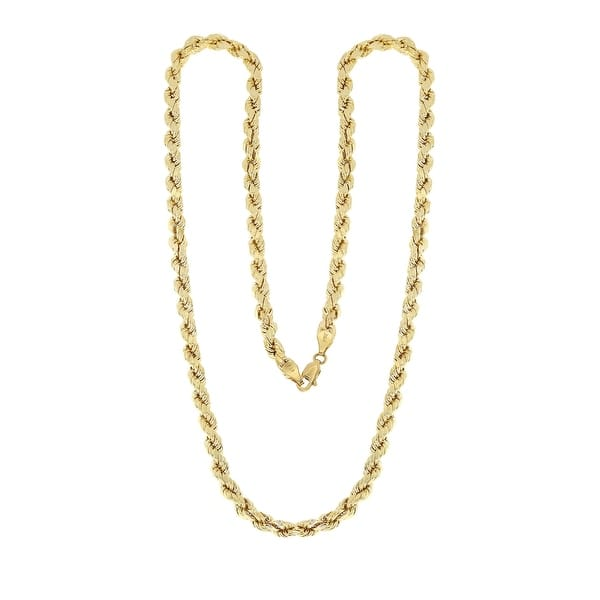 e561d95e4ddb4 Shop Mcs Jewelry Inc 10 KARAT YELLOW GOLD HOLLOW ROPE CHAIN NECKLACE ...