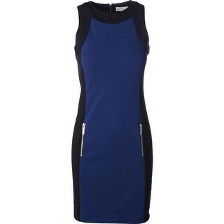 MICHAEL Michael Kors Womens Ponte Sleeveless Wear to Work Dress