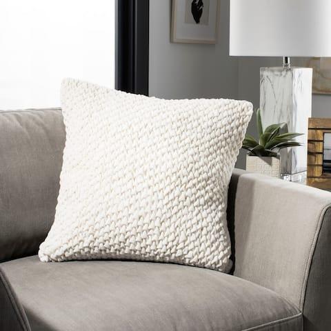 SAFAVIEH Abella Ruched Cream 20-inch Decorative Pillow
