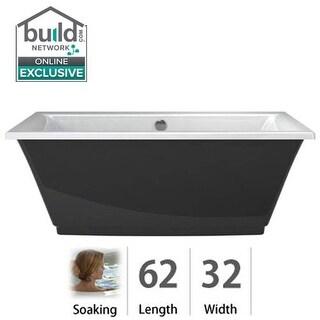 "Jacuzzi FIF6232BCXXXX Fiore 62"" Soaking Freestanding Bathtub with Center Drain"