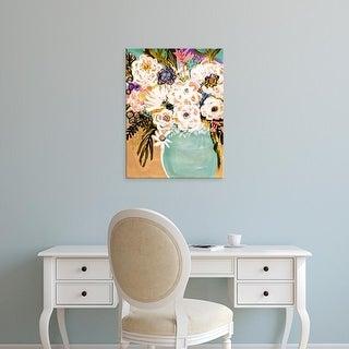 Easy Art Prints Karen Fields's 'Summer Flowers in a Vase I' Premium Canvas Art