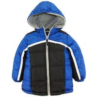 iXtreme Toddler Boys Expedition Colorblock Hooded Winter Puffer Jacket Coat