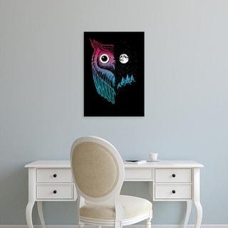 Easy Art Prints Michael Buxton's 'Night Owl' Premium Canvas Art