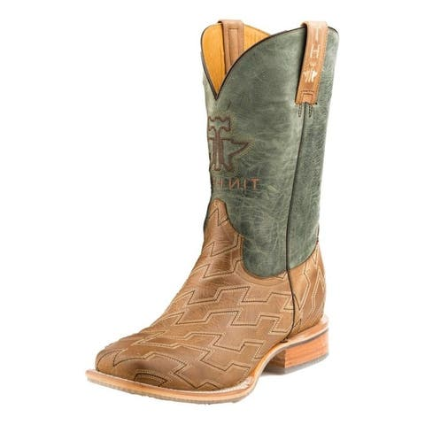 Tin Haul Western Boots Mens Horse Power Tan