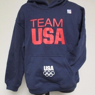 Team USA Kids M Medium 5/6 Dark Blue Hoodie