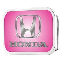 Honda Logo Fcg Pink Silver Fade Chrome Rock Star Buckle One Size - multi - One Size Fits most
