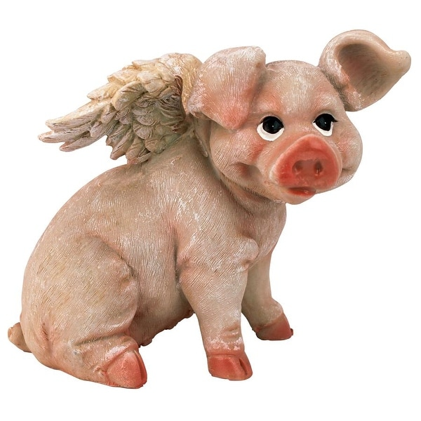 Design Toscano Hog Heaven Flying Pigs Statue Collection Sitting