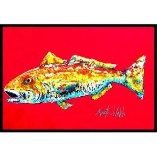 Carolines Treasures MW1084JMAT 24 x 36 in. Fish - Red Fish Alphonzo Indoor Or Outdoor Doormat