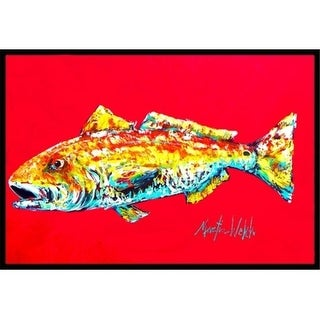 Carolines Treasures MW1084MAT 18 x 27 in. Fish-Red Fish Alphonzo Indoor & Outdoor Doormat