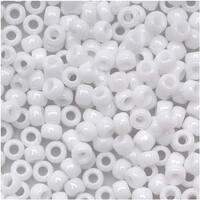 Toho Round Seed Beads 8/0 41 Opaque White 8 Gram Tube
