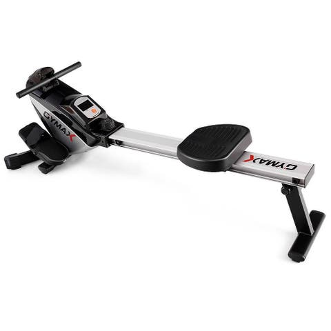 Gymax Folding Magnetic Rowing Machine Rower Exercise Cardio Adjustable