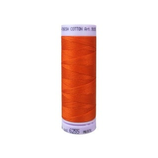 9105 6255 Mettler Silk Finish Cotton 50 164yd Mandarin Orng