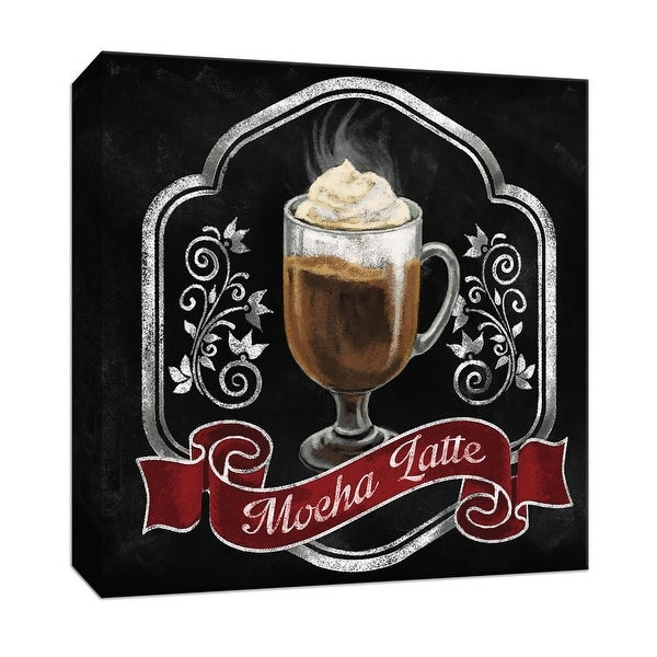 "PTM Images 9-147311 PTM Canvas Collection 12"" x 12"" - ""Mocha Latte"" Giclee Coffee, Tea & Espresso Art Print on Canvas"