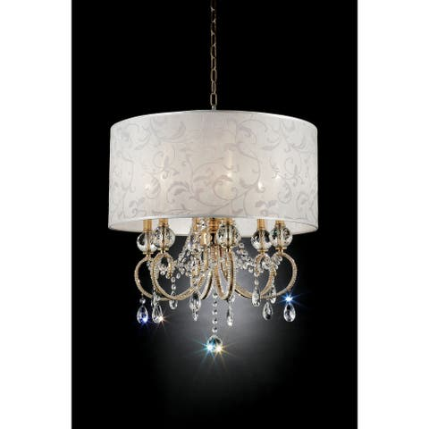 Gracewood Hollow Selimovic Glam Goldtone Ceiling Lamp