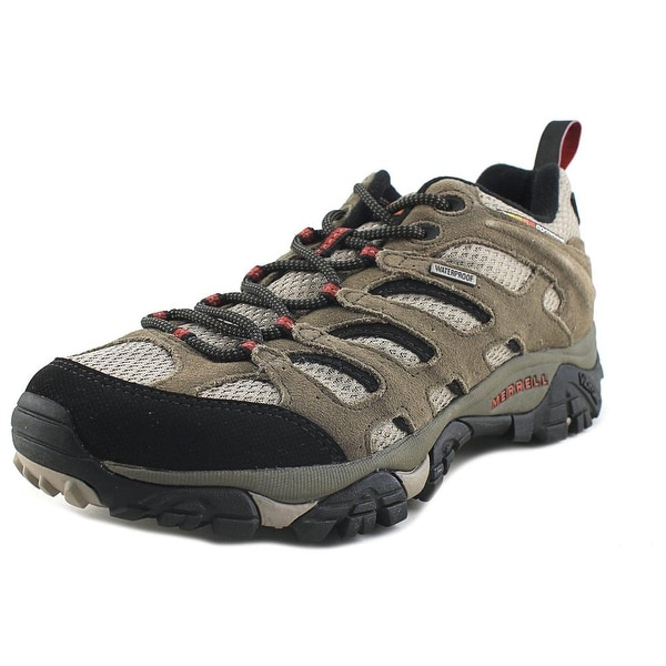 Merrell Moab Waterproof Men Round Toe Synthetic Brown Hiking Shoe