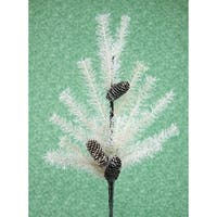 Pack of 6 Off-White Pine and Pine Cone Artificial Christmas Sprays 36""