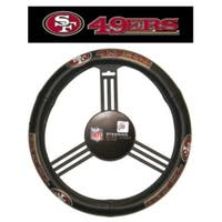 San Francisco 49ers Steering Wheel Cover - Leather