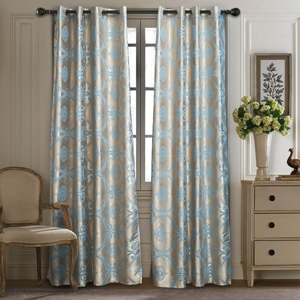 Curtains Damask Jacquard Grommet Semi-Blackout, Tall 60x100. Opens flyout.