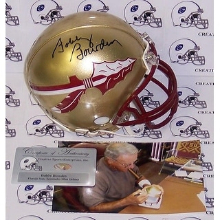 Bobby Bowden Autographed Hand Florida State Seminoles Mini Helmet