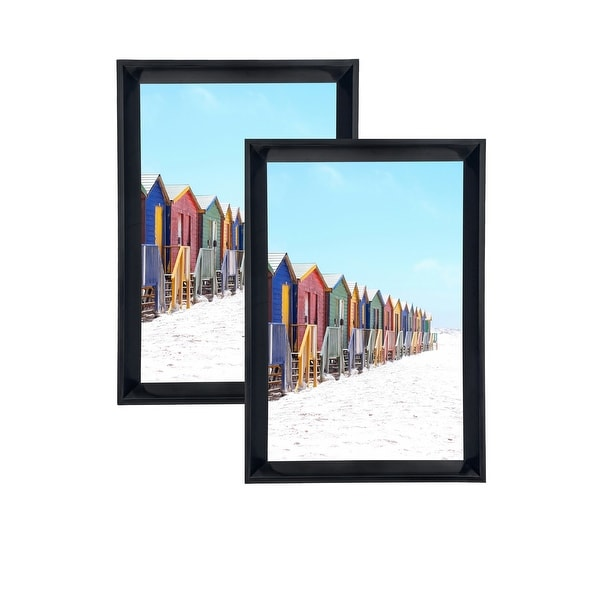 Shop Glossy Pvc Picture Frames 4x6 With Pvc Lens Set Of 2 Lb1619