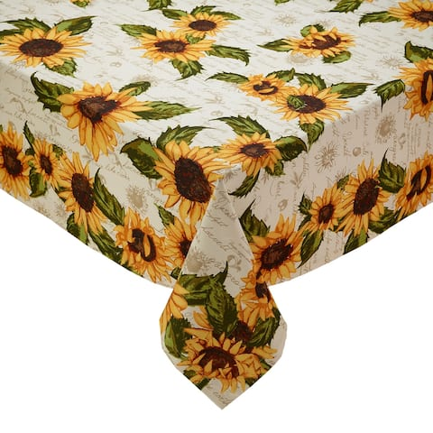 DII Rustic Sunflower Printed Tablecloth - 52 X 52
