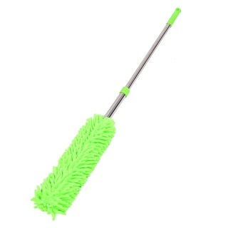 Household Chenille Telescopic Bookshelf Dirt Clean Brush Duster Yellow Green
