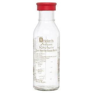 Accessories Storage Containers Easy Stir Fry Sauce Bottle 13 oz., Glass