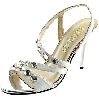 E! Live From The Red Carpet Goldee Women Open Toe Canvas White Sandals