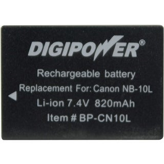 DigiPower BP-CN10L Digital Camera Battery - Replaces Canon(R) NB-10L battery pack - 820 mAh - Lithium Ion (Li-Ion) - 7.4 V DC