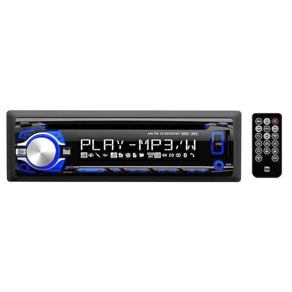 "Dual Cd/Mp3 Player With Charging Usb 3.5Mm Aux And 3.7"" Lcd"