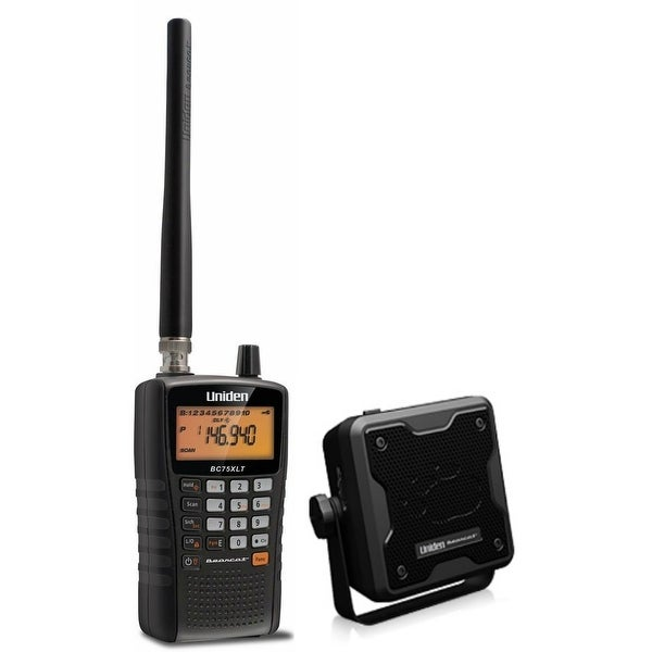 Uniden BC75XLT Compact Public Safety Scanner with Compact External Speaker