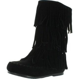 Pierre Dumas Girls Apache-6 Fringe Moccasin Boots