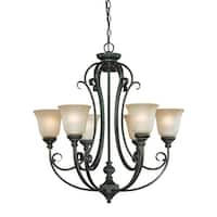 Craftmade 24226 Barrett Place Single Tier 6 Light Chandelier - 27 Inches Wide