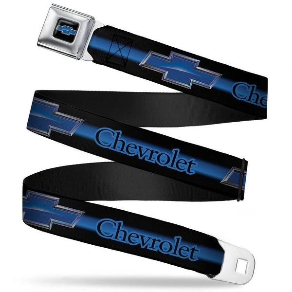 Chevrolet Horizon Bowtie Full Color Black Silver Blue Chevrolet Horizon Seatbelt Belt