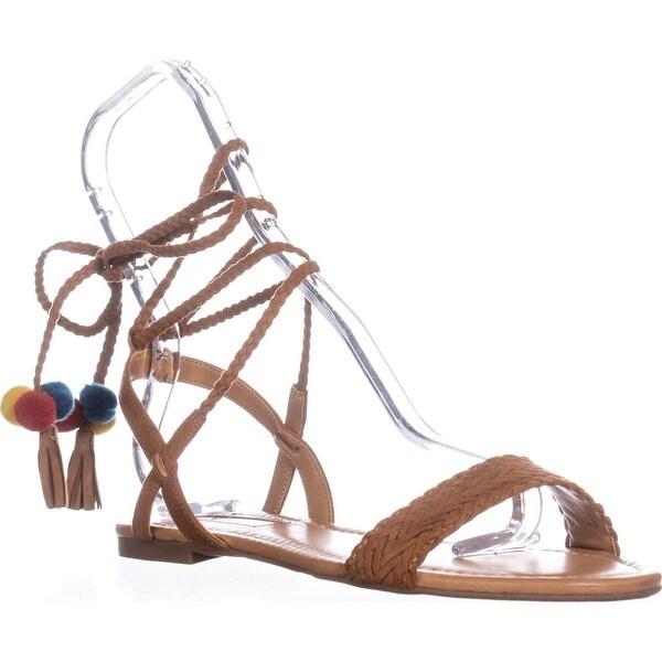 I35 Ganice2 Two-Piece Lace-Up Sandals, Golden Cognac