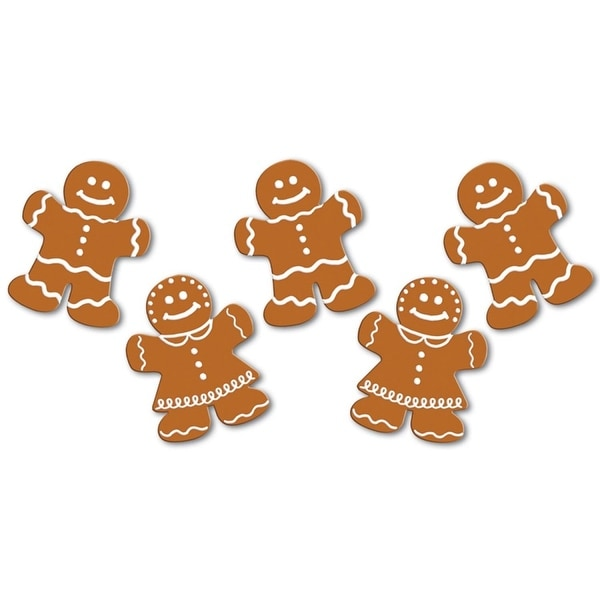 Pack of 240 Mini Mr. and Mrs. Gingerbread Cutouts Christmas Decorations 5""