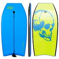Goplus 42'' Lightweight Super Bodyboard Surfing W/Leash IXPE Deck EPS Core Boarding