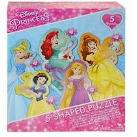 Disney Princess 5 Pacek Shaped Puzzle, Disney Princess by Red Bird Hong Kong