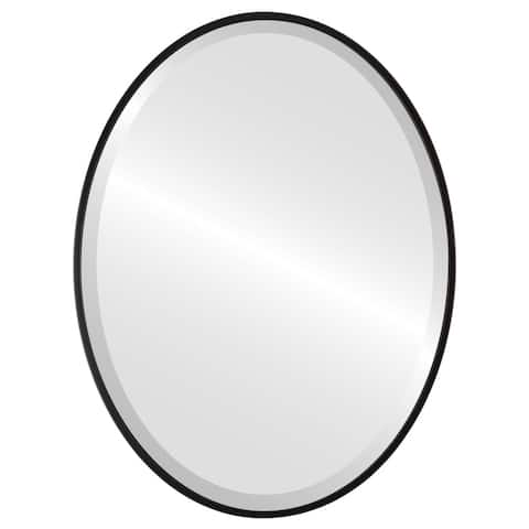 Singapore Framed Oval Mirror - Matte Black
