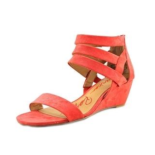American Rag Casen Women Open Toe Canvas Pink Wedge Sandal