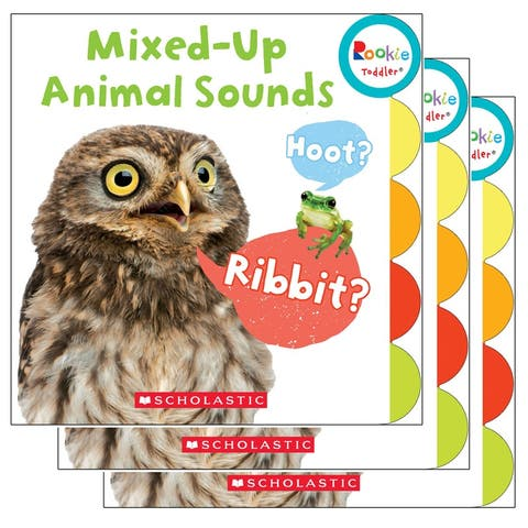 (3 Ea) Board Book Mixed Up Animal Sounds Rookie Toddler