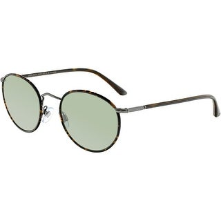Giorgio Armani Men's AR6016J-30039A-51 Brown Round Sunglasses