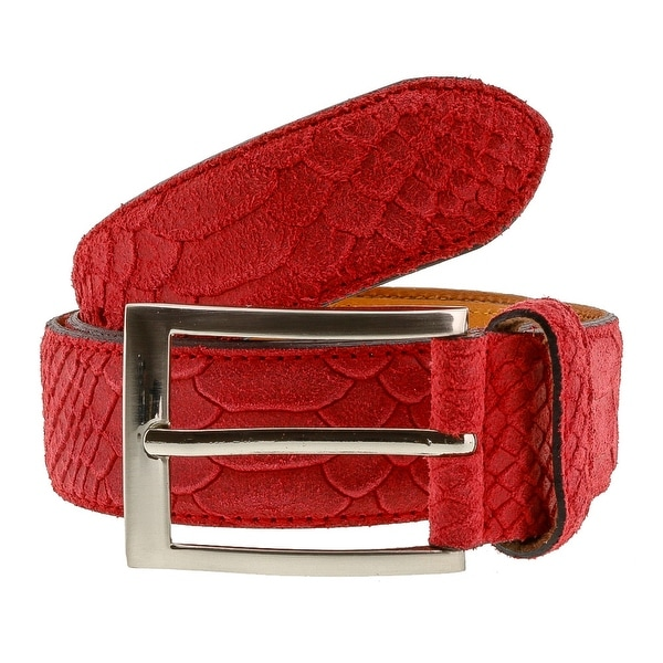 Renato Balestra X199  Python Embossed Leather Mens Belt