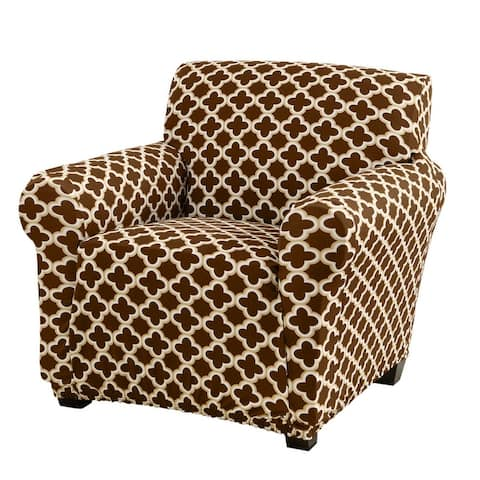 Great Bay Home Printed Twill Stretch Chair Slipcover